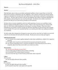 Sample Natural Birth Plan Sample Natural Birth Plan Magdalene Project Org