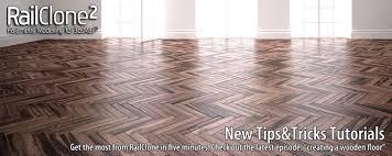 3 railclone parquet floor tutorials
