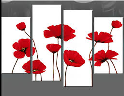 on red canvas wall art uk with red poppies on white 4 panel canvas wall art picture 40 inch 101cm