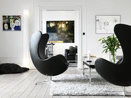 arne jacobsen egg chair replica. Arne Jacobsen Egg Chair - Black Leather Replica