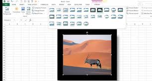 online format insert and format pictures online pictures clip art in excel