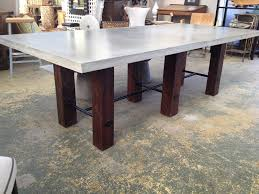 ... Astonishing Gray Rectangle Modern Wooden Concrete Top Dining Table  Stained Ideas: elegant ...
