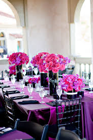 Purple and Pink Table Setting