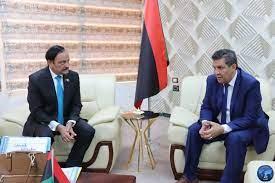 وكالة الأنباء الليبية - وزير التربية والتعليم يبحث مع سفير باكستان لدى  ليبيا، وضع المدرسة الباكستانية في كل من طرابلس وبنغازي.