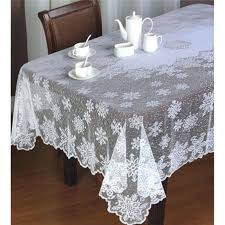 white lace tablecloth whole snowflake table clothes tablecloths ride happy festival round overlay 90 inch