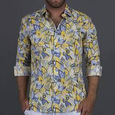 Mens Shirt The Kirra Yellow