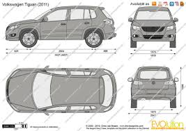 The-Blueprints.com - Vector Drawing - Volkswagen Tiguan