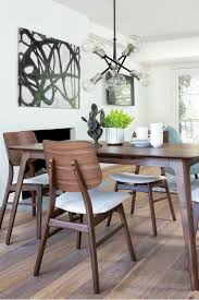 carly 5 piece rectangle dining set dining rooms rectangle dining table mid century design and wood veneer