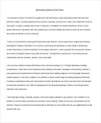 Free 10 Sample Teacher Cover Letter
