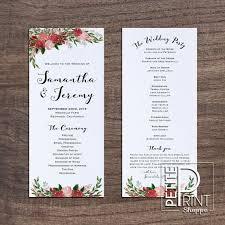 program template for wedding wedding programme template oyle kalakaari co