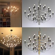 modern home decoration 18 30 50 bulbs gold color gino sarfatti designed chandelier living room dinning