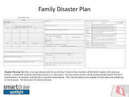 Family Emergency Plan Template Images Family Plan Bee
