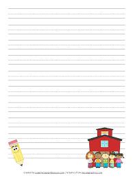 Kindergarten Lined Paper Template Free Printable Kindergarten Writing Paper Template Lined Paper
