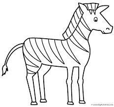 Small Picture Zebra Coloring Page Animals