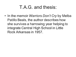essay basics follow this formula to success five paragraphs 6 t a g and thesis in the memoir warriors don t cry