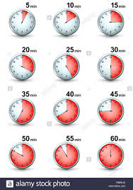Vector Set Of Red Timer Icons Different Time Interval Icons