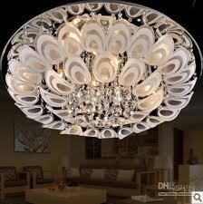 60cm modern led k9 crystal flushmount ceiling lighting lamp fixture chandelier bathroom chandelier ceiling chandelier from lxledlight 351 76 dhgate com