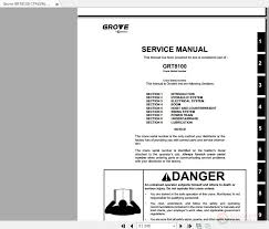 Grove Grt8100 Load Chart Grove Grt8100 Ctrl596 05 Service Manual Auto Repair Manual