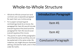 compare contrast essays ppt whole to whole structure