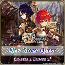 new story quest chapter episode is the alchemist code  image contain text