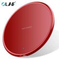 <b>OLAF 10W Ultrathin</b> Round Intelligent Fast Wireless Charger for ...