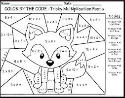 Math Pages For 5th Grade Grade Coloring Pages Multiplication Math