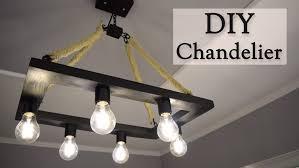 diy rustic hemp rope chandelier for 35