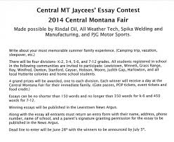 summer essay contest boys girls club of lewistown the  central montana jaycees essay contest