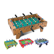 Miniature Wooden Foosball Table Game 100 inch Tabletop Soccer Football Table Game Kis Game Set with Legs 10