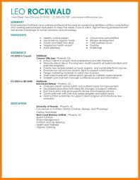 9 Resume Example 2015 Letter Setup
