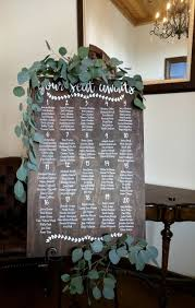 Greenery Swags On Seating Chart Sign The Fresh Blossoms