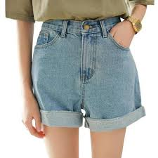 <b>New Spring</b> Summer Women Denim Shorts Korean Style <b>High</b> Waist ...