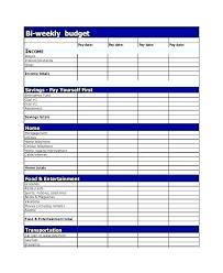 Excel Biweekly Budget Template Simple Weekly Budget Template