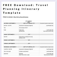 what is a travel itinerary business itinerary templates for word planning business