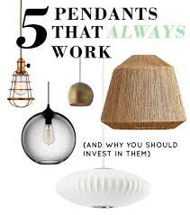 5 Pendant Lamps That Will Always Work And Why DesignSponge