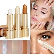 details about shimmer highlight contour stick makeup body face concealer powder cream beauty u