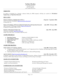 Resumes Objectives Examples For Mechanical Engineering Resume
