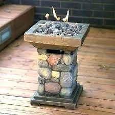 outdoor tabletop fire bowl pit column propane gas table top better homes bond manufacturing target tabl
