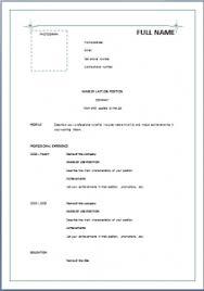 Resume Blank Format Pdf Simple Blank Resume Format Laperlita