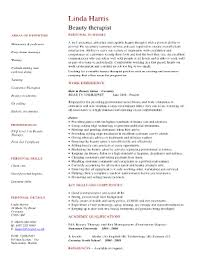 cv for beauty therapist beauty therapist cv example uk fill online printable fillable