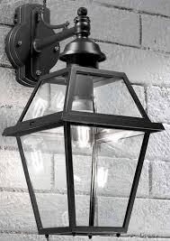 franklite nerezza downward outdoor wall lantern metal