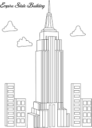 Small Picture Empire state building coloring page for kids