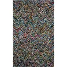 nantucket blue multi 5 ft x 8 ft area rug