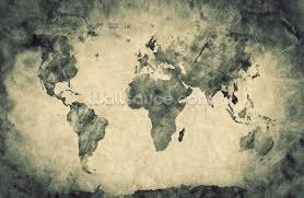 ancient world map sketch wallpaper mural