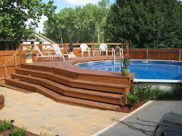 above ground pool decks. Ground Pools Decks Idea Deck For Above Pool