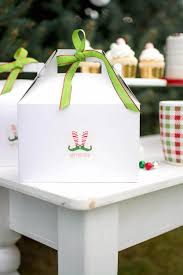 Gable Boxes Containing Elves from an Elf Themed Holiday Christmas Party via  Kara's Party Ideas |