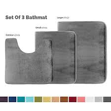 memory foam bathroom rug absorbent bath mat set small large and contour rug