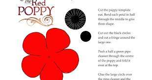 poppy template fifi colston creative remembrance poppy template