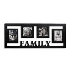 Shop Adeco Decorative Black Wood <b>Wall Hanging</b> 'Family' Floating ...