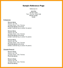 How To Create A Reference Page For A Resumes Reference Resume Page Wikirian Com